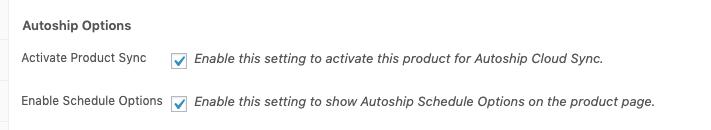 Autoship Options Display Toggle